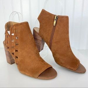 NWOB Franco Sarto Marty Cutout Leather Bootie 9.5